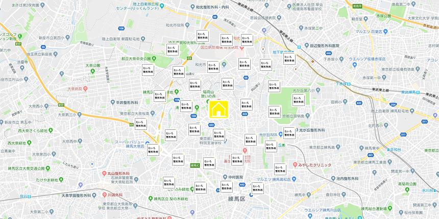 訪問場所の地図